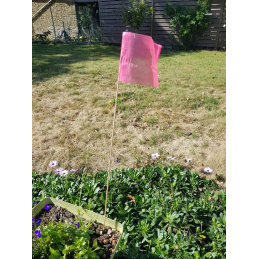 piquet drapeau de signalisation biodégradable