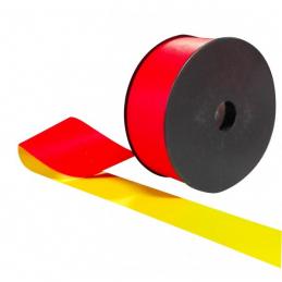 Ruban fluo rouge et jaune sur touret