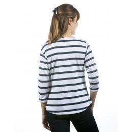 Tee shirt marinière respirant femme