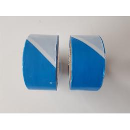 Rubalise plastique 50mm*100m bleue/blanche