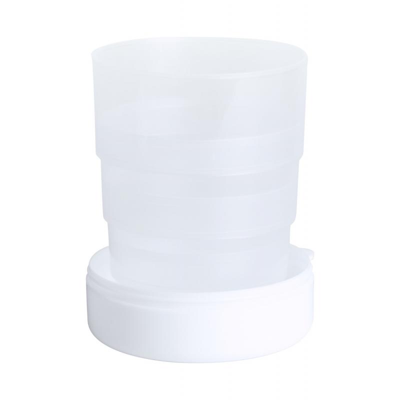 Gobelet pliable blanc avec personnalisation