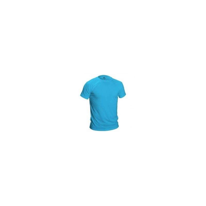 Lots 400 Tee shirt technique bleu 135g