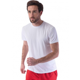 Tee shirt technique léger blanc sans marquage lot de 100